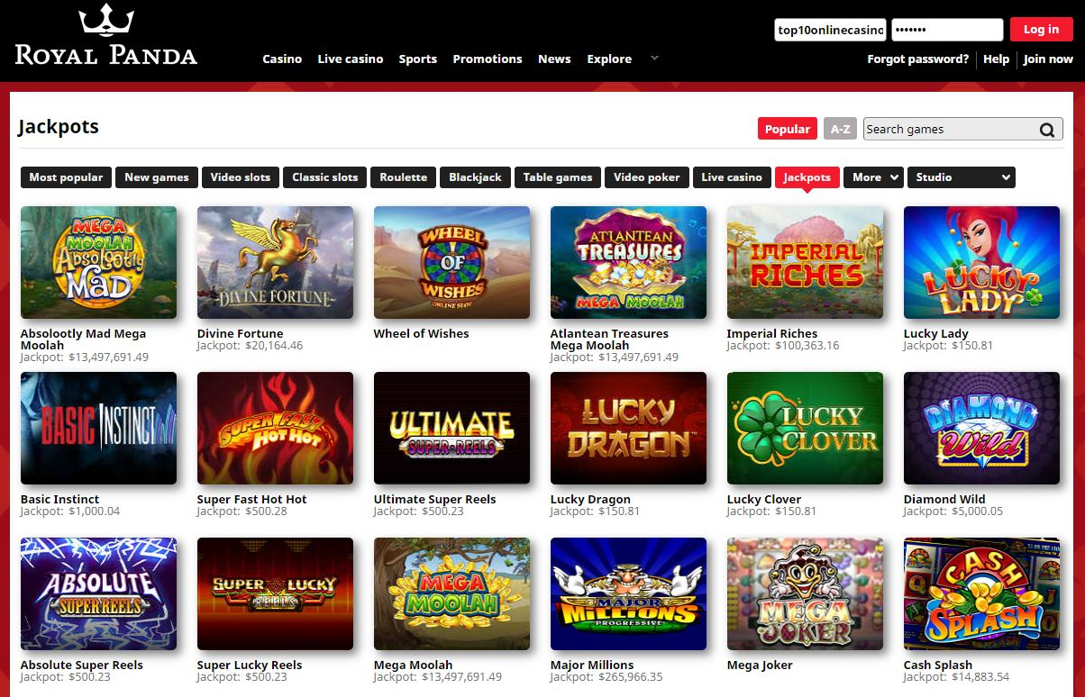 Jackpot Games top10onlinecasinos